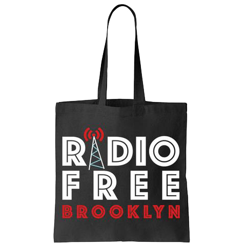 rfb black 6 oz canvas tote radio free brooklyn online store. Black Bedroom Furniture Sets. Home Design Ideas